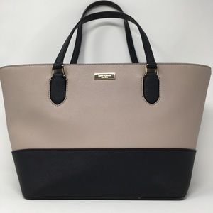 Kate Spade Small Taupe & Black Tote